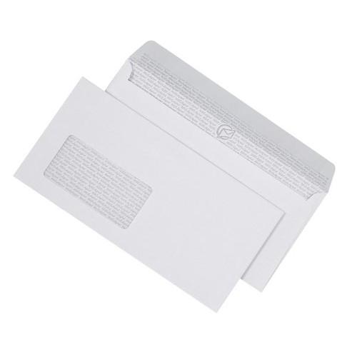 Briefumschlag mit Fenster DIN lang 110x220mm 90g mit Haftklebung Laser- bedruckbar (PACK=250 STÜCK) Produktbild