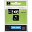 Schriftband D1 19mm/7m weiß auf schwarz Dymo S0720910 Produktbild