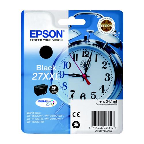 Tintenpatrone 27XXL für Epson WF3620/ 7110DTW/7600 34,1ml schwarz Epson T279140 Produktbild Front View L