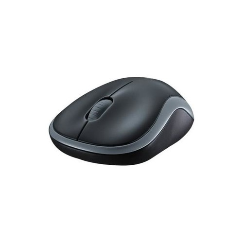 Wireless Optical Mouse M185 3 Tasten swift grey Logitech 910-002238 Produktbild Front View L
