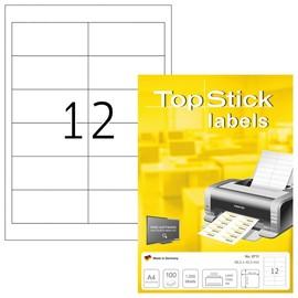 Etiketten Inkjet+Laser+Kopier weiß auf A4 Bögen 96,5x42,3mm BesStandard (PACK=1200 STÜCK) Produktbild