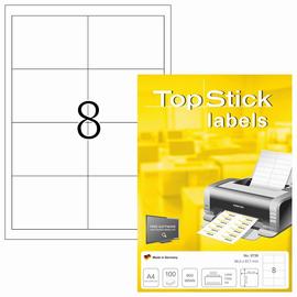Etiketten Inkjet+Laser+Kopier weiß auf A4 Bögen 96,5x67,7mm BestStandard (PACK=800 STÜCK) Produktbild