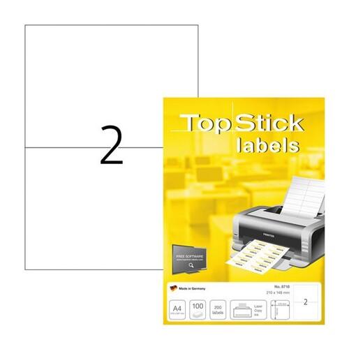 Etiketten Inkjet+Laser+Kopier 210x148mm auf A4 Bögen weiß BestStandard (PACK=200 STÜCK) Produktbild