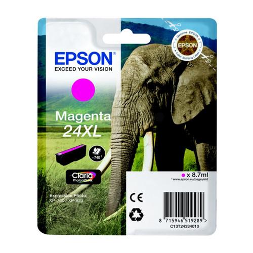 Tintenpatrone 24XL für Epson Expression Photo XP-750/760/850/860-950 8,7ml magenta Epson T243340 Produktbild Front View L