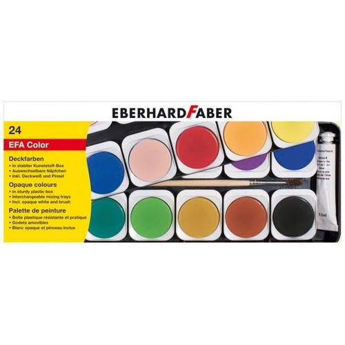 Malkasten 24 Farben ohne Wasserbecher Eberhard Faber 578124 Produktbild Front View L