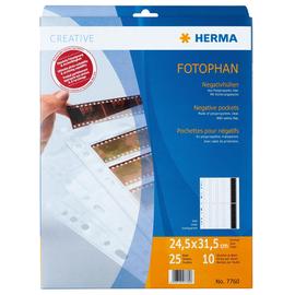 Fotohüllen Fotophan für Negative A4 245x315mm klar kunststoff Herma 7760 (PACK=25 BLATT) Produktbild