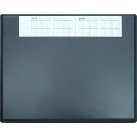 Schreibunterlage mit Vollsichtpatte und auswechselbarem Kalender 63x50cm schwarz Soennecken 3655 Produktbild