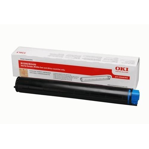 Toner für B2200/B2400 2000Seiten schwarz OKI 43640302 Produktbild Front View L