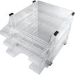 Briefkorb-3er Set für A4 brilliant glasklar Kunststoff Helit H6101302 (SET=3 STÜCK) Produktbild