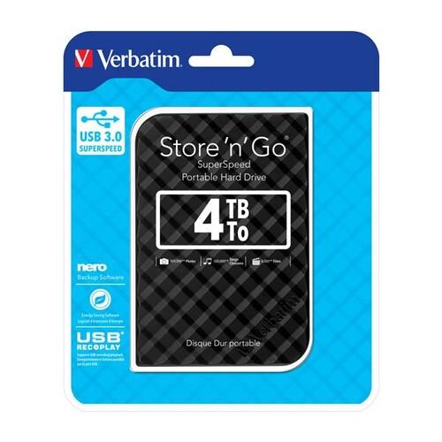 Festplatte 6,35cm (2,5 Zoll) USB 3.0 4TB 2. Generation inklusive Software NERO Back IT Up Retail-Blister 3D-Optik Produktbild Front View L