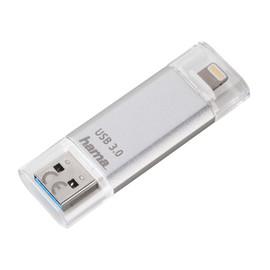 USB Stick Flash Pen 3.0 Save2Data 64GB 90MB/s silber Hama 00124175 Produktbild