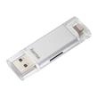 Kartenleser für Smartphone/Tablet microSD USB 3.0 Save2Data duo silber Hama 00124176 Produktbild