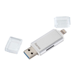 Kartenleser für Smartphone/Tablet microSD USB 3.0 Save2Data duo silber Hama 00124176 Produktbild Additional View 1 S