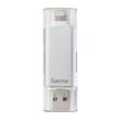 Kartenleser für Smartphone/Tablet microSD USB 3.0 Save2Data duo silber Hama 00124176 Produktbild Additional View 2 S