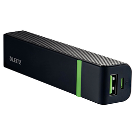 USB-Powerbank Complete mit 1 Ausgang 1A 2600mAh Lithium-Ion Akku schwarz Leitz 6311-00-95 Produktbild