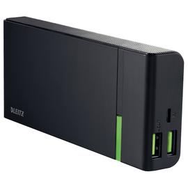 USB-Powerbank High-Speed Complete mit 2 Ausgängen 2A 10400mAh Lithium-Ion Akku schwarz Leitz 6313-00-95 Produktbild