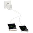 USB Reise-Netzteil Ladegerät Complete 12W 2Ausgänge 2.4A weiß Leitz 6520-00-01 Produktbild Additional View 1 S