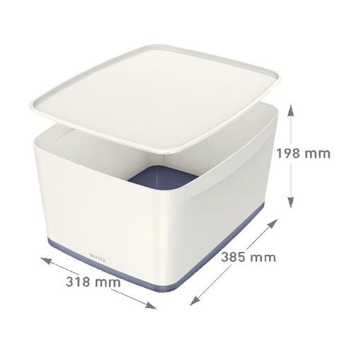 aufbewahrungsbox my box f r a4 wei grau 5216 10 01. Black Bedroom Furniture Sets. Home Design Ideas