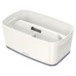 Aufbewahrungsbox MyBox mit Deckel für A5 318x128x191mm 5Liter weiß/grau Kunststoff Leitz 5229-10-01 Produktbild Additional View 1 S