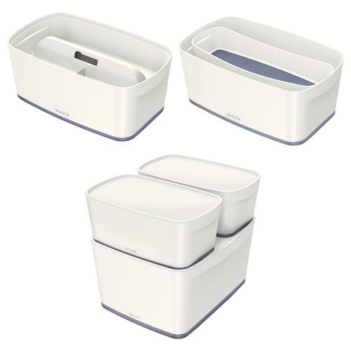 Aufbewahrungsbox MyBox mit Deckel für A5 318x128x191mm 5Liter weiß/grau Kunststoff Leitz 5229-10-01 Produktbild Additional View 8 L