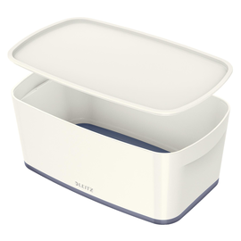 Aufbewahrungsbox MyBox mit Deckel für A5 318x128x191mm 5Liter weiß/grau Kunststoff Leitz 5229-10-01 Produktbild