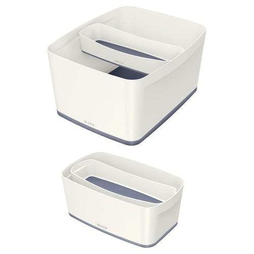 Aufbewahrungsschale MyBox 307x55x105mm weiß/grau Leitz 5258-10-01 Produktbild Additional View 2 L