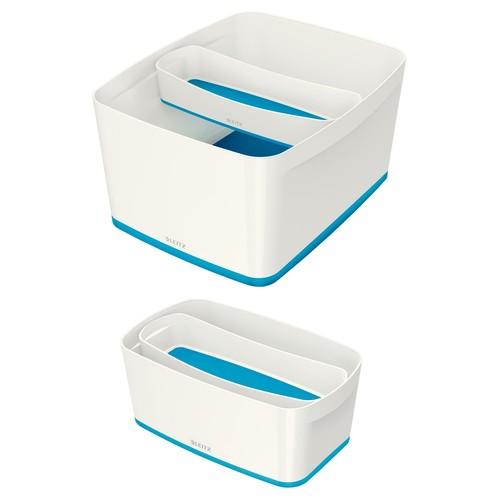Aufbewahrungsschale MyBox 307x55x105mm weiß/blau Leitz 5258-10-36 Produktbild Additional View 2 L