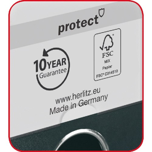 Ordner maX.file protect A4 50mm schwarz PP Herlitz 5450804 Produktbild Additional View 2 L