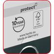 Ordner maX.file protect A4 50mm blau PP Herlitz 5450408 Produktbild Additional View 2 S