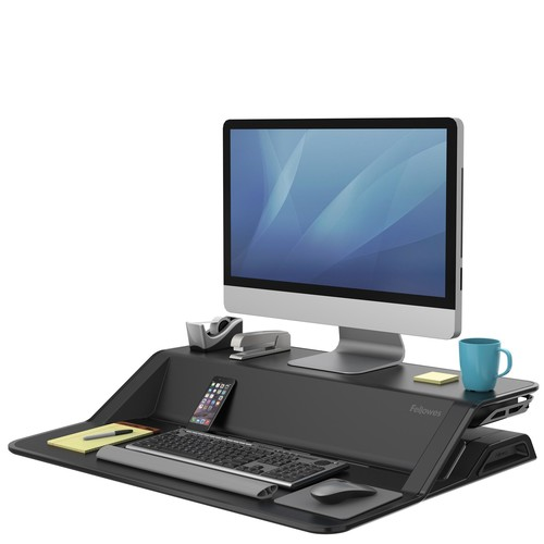Workstation Sitz/Steh Desktop Lotus schwarz Fellowes 0007901 Produktbild Additional View 1 L