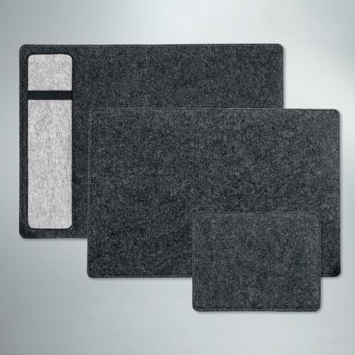 Schreibunterlage casualstyle 50x33x0,7cm anthrazit/grau Filz Sigel SA301 Produktbild Additional View 3 L