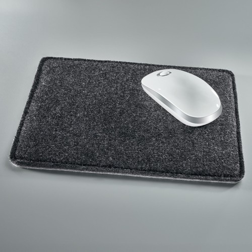 Mousepad casualstyle 250x200x7mm anthrazit/grau Filz Sigel SA300 Produktbild Additional View 4 L