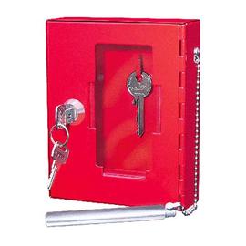 Notschlüsselkasten für 1 Schlüssel mit Knöppel 120x40x150mm rot Stahlblech Wedo 10250102X Produktbild