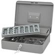 Geldkassette Standard Plus Zählbrett für 137,60€ und Schacht 300x240x90mm mit Klammer grau Metall Wedo 149858012 Produktbild Additional View 2 S
