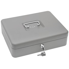 Geldkassette Standard Plus Zählbrett für 137,60€ und Schacht 300x240x90mm mit Klammer grau Metall Wedo 149858012 Produktbild