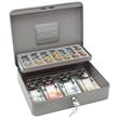 Geldkassette Standard Plus Zählbrett für 137,60€ und Schacht 300x240x90mm mit Klammer grau Metall Wedo 149858012 Produktbild Additional View 1 S
