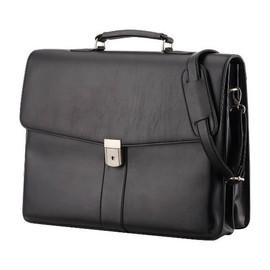 Aktentasche mit abnehmbarem Schulterriemen PESCARA 41x31x12,5cm schwarz Lederimitat Alassio 47014 Produktbild