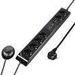 Steckdosenleiste 6-fach 1,5m Kabel schwarz mit Fußschalter Hama 00108840 Produktbild