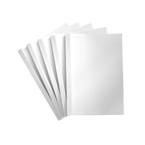 Thermo-Bindemappen A4 1,5mm weiß +transparent Reinauer PV 4 004 015 (PACK=100 STÜCK) Produktbild Front View L