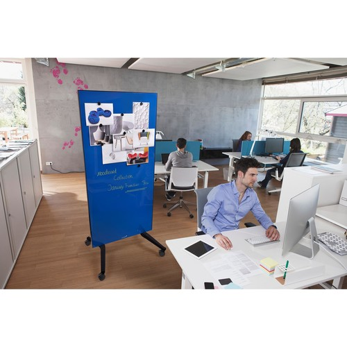 Glas-Magnetboard Mobil 175x95x4cm blau Legamaster 7-105300 Produktbild Additional View 7 L