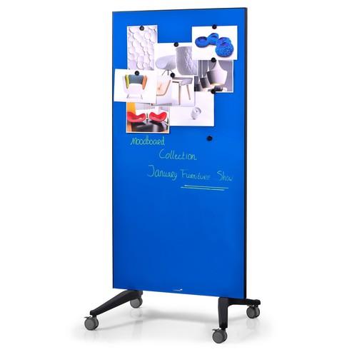 Glas-Magnetboard Mobil 175x95x4cm blau Legamaster 7-105300 Produktbild Additional View 1 L