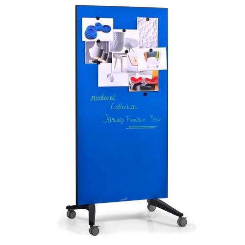 Glas-Magnetboard Mobil 175x95x4cm blau Legamaster 7-105300 Produktbild Additional View 2 L