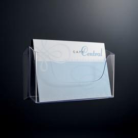 Wand-Prospekthalter 1x A4 quer 45mm glasklar Acryl Sigel LH118 Produktbild