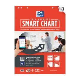 Flipchartblock Oxford Smart Charts 30Blatt 68x99cm blanko weiß 400096276 Produktbild
