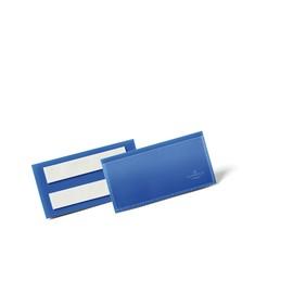 Etikettentaschen 100x38mm dunkelblau selbstklebend Durable 1759-07 (PACK=50 STÜCK) Produktbild