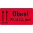 Warnetiketten OBEN NICHT STÜRZEN 100x50mm neon-rot Zweckform 7214 (PACK=200 STÜCK) Produktbild Additional View 2 S