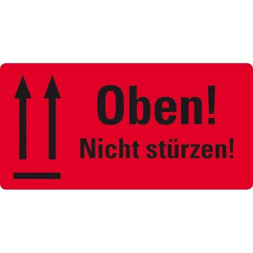 Warnetiketten OBEN NICHT STÜRZEN 100x50mm neon-rot Zweckform 7214 (PACK=200 STÜCK) Produktbild Additional View 2 L