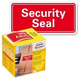 Sicherheitssiegel SECURITY SEAL 78x38mm rot Zweckform 7310 (PACK=200 STÜCK) Produktbild