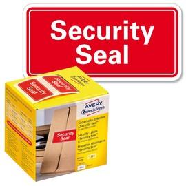 Sicherheitssiegel SECURITY SEAL 38x20mm rot Zweckform 7311 (PACK=200 STÜCK) Produktbild