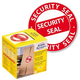 Sicherheitssiegel SECURITY SEAL 38mm ø rot Zweckform 7312 (PACK=125 STÜCK) Produktbild
